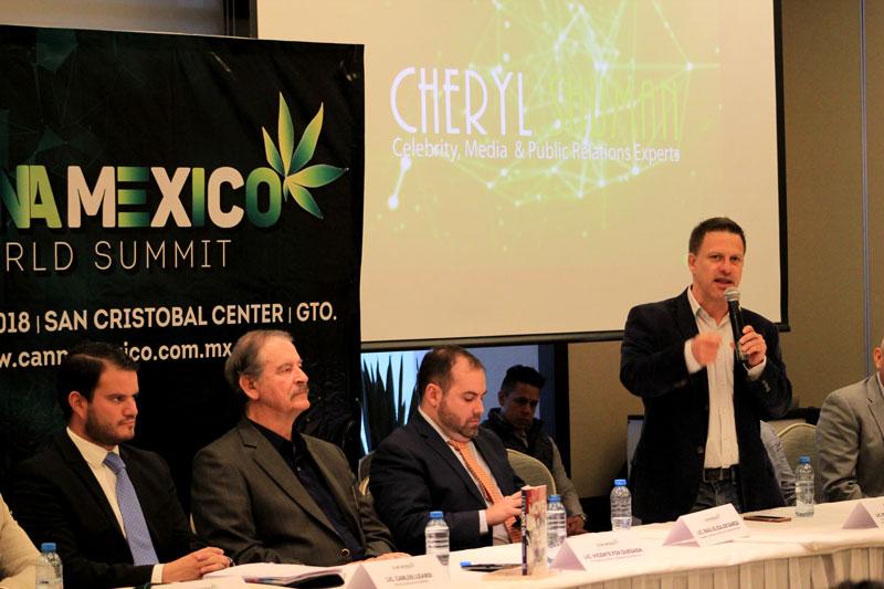 Presentación ante prensa de CANNAMEXICO World Summit 2018