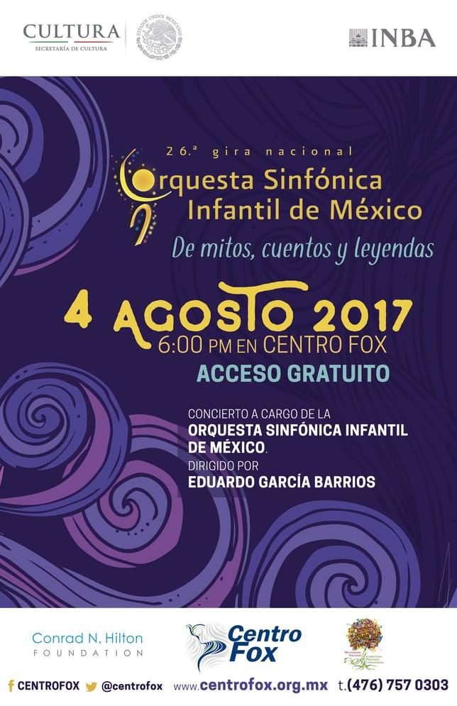 Concierto Orquesta Sinfónica Infantil de México OSIM- Centro Fox