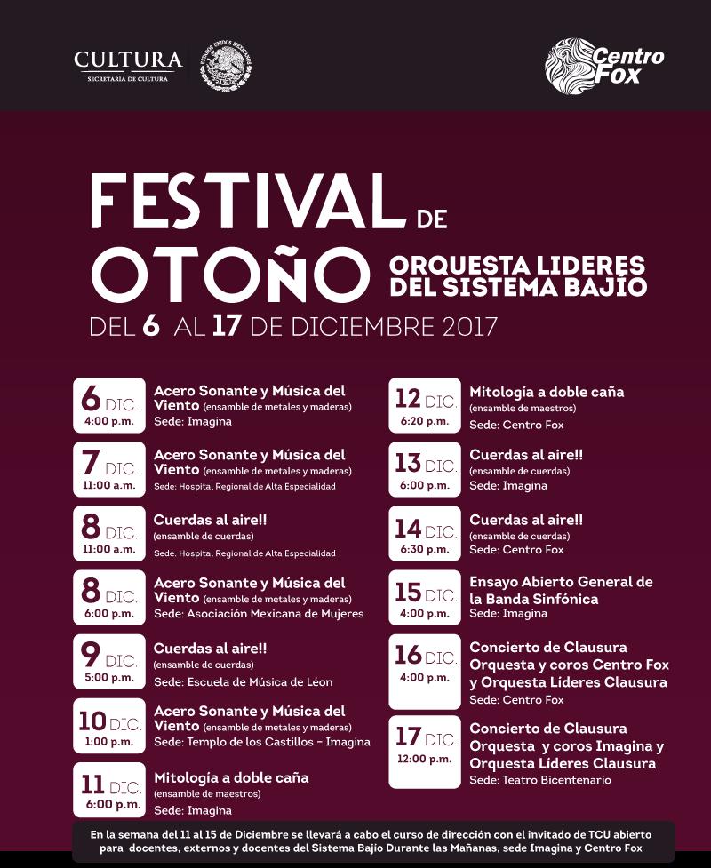 Centro Fox, como miembro del Sistema Bajío de Orquestas Comunitarias, presenta el Festival de Otoño; una celebración musical en León, GTO.