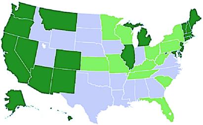 mapa eua