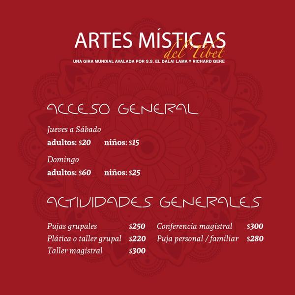 Precios de las Artes Místicas del Tíbet en Centro Fox